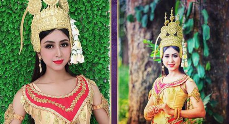 Cô gái Khmer xinh đẹp nổi bật, được kỳ vọng là đối thủ nặng ký tại cuộc Hoa hậu Hoàn vũ Việt Nam 2019