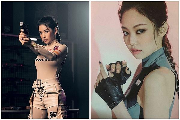 """Nghi án Chi Pu """"đạo"""" trắng trợn toàn bộ tạo hình từ Jennie (Black Pink) trong MV tên """"hack não"""" mới?"""