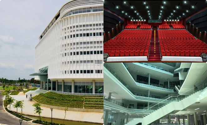 Bên trong Nhà văn hóa Sinh viên đầy ấn tượng và choáng ngợp giữa Làng Đại học Quốc gia TP HCM