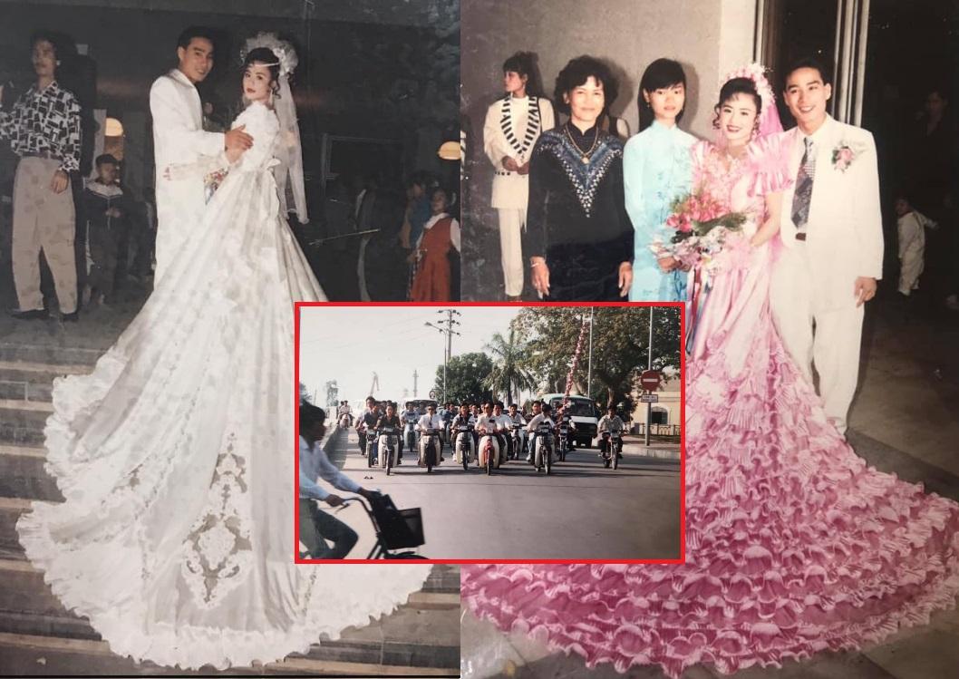 Đám cưới rich kid thời xưa: Cô dâu thay 3,4 bộ váy, đếm sương sương cũng 15 tráp cưới, đón dâu bằng dàn siêu xe