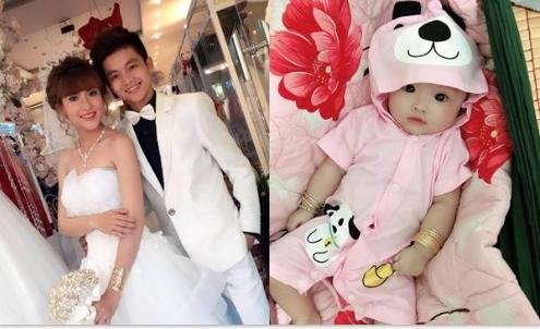 Trầm trồ trước nhan sắc gái đầu lòng của cặp đôi vợ 9x, chồng 2k ở Tiền Giang