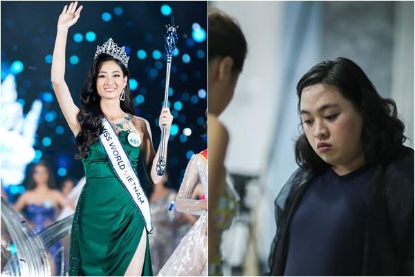 NTK  Audrey Hiếu Nguyễn bất ngờ tiết lộ sự thật về chiếc váy dạ hội màu xanh may mắn của Hoa hậu Lương Thùy Linh trong đêm chung kết