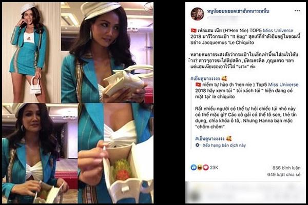 """Fans Thái Lan """"sốt rần rật"""" với hình ảnh H-Hen Niê dùng túi hàng hiệu đựng chôm chôm"""