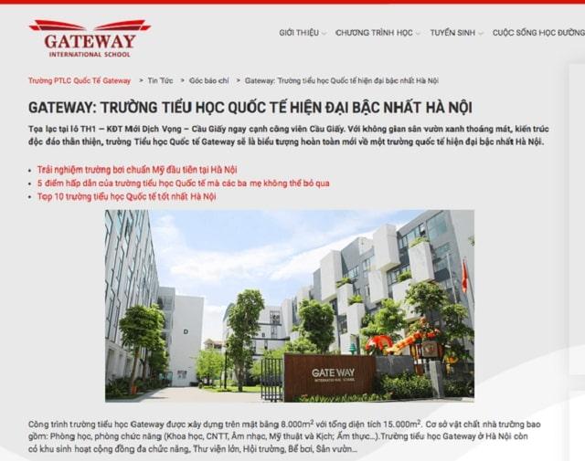 """Học phí đắt đỏ của trường """"quốc tế"""" Gateway"""