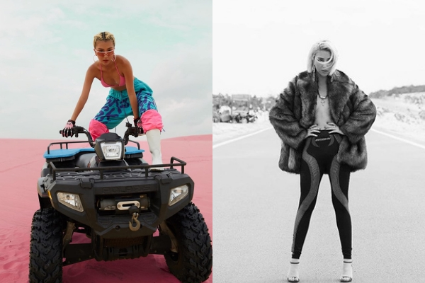 Lạ lùng thay gu thời trang đi du lịch của Quỳnh Anh Shyn: Không phối bốt nhung với bikini, cũng quần legging màu sắc sặc sỡ