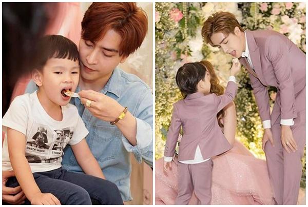 Trước thị phi, Kin Nguyễn từng viết loạt status ngôn tình và đăng ảnh yêu con riêng của vợ thế nào?