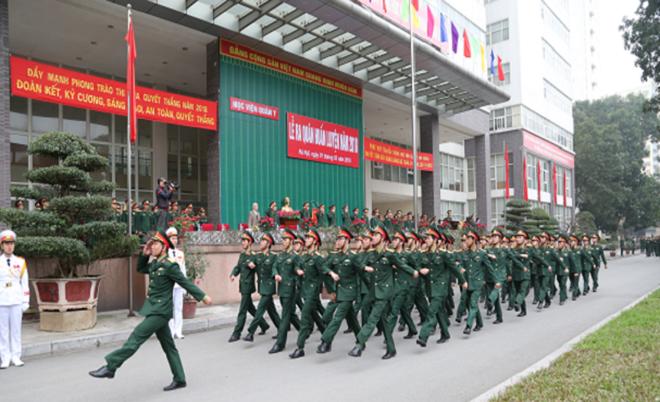 Điểm chuẩn trúng tuyển 18 trường quân đội năm 2019