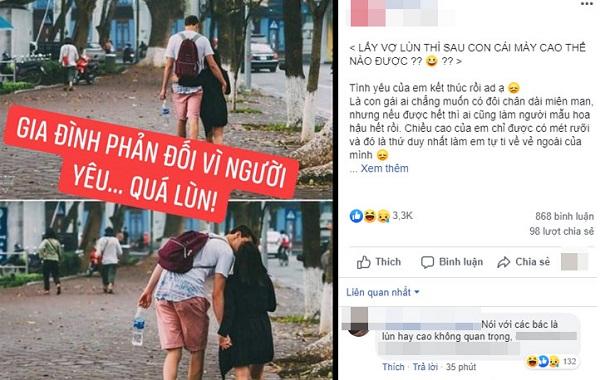 Bị gia đình bạn trai cấm yêu vì chỉ cao 1m50, cô gái đáp trả sâu cay khiến ai cũng phải nể