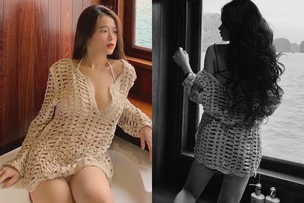 """Du lịch bằng du thuyền cực chảnh, Linh Ka vẫn bị bóc mẽ là """"làm màu"""" vì có đúng 1 chiếc áo mà chụp 100 kiểu"""