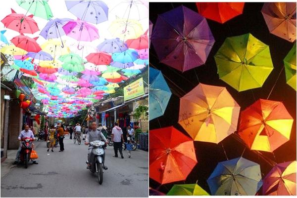 Ai bảo chỉ Bồ Đào Nha mới có con đường ô, Hà Nội cũng xuất hiện con đường ô đầy màu sắc rồi này