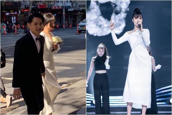 """Vừa lộ vài tấm hình chụp vội, dân tình đã thi nhau """"dự đoán"""" chiếc váy cưới của Đông Nhi với Ông Cao Thắng"""