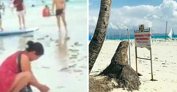 Philippines đóng cửa bãi tắm của đảo Boracay vì khách Trung Quốc chôn tã xuống cát