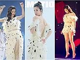 """Chỉ 1 mẫu váy hết giấu tay lại cắt ngắn, Đông Nhi khiến fans tò mò: """"Chắc váy cưới mắc tiền lắm"""""""