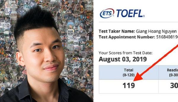 Giảng viên Việt trở thành một trong những người đầu tiên trên thế giới đạt 119/120 TOEFL định dạng mới