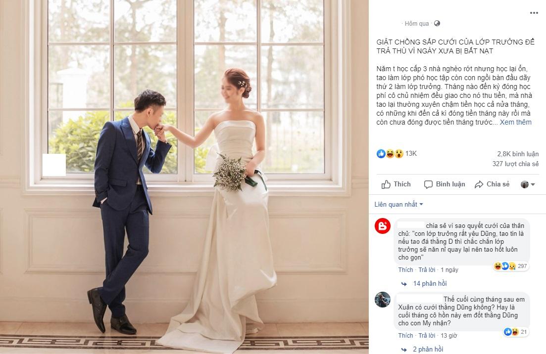 Sau 10 năm ra trường, lớp phó học tập quay lại giật chồng sắp cưới của lớp trưởng để trả đũa vì ngày xưa bị bắt nạt
