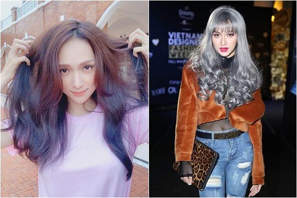"""Từng sở hữu đến vài màu tóc """"thảm họa"""", cuối cùng Hương Giang cũng tìm được 1 màu ombre dành cho mình"""