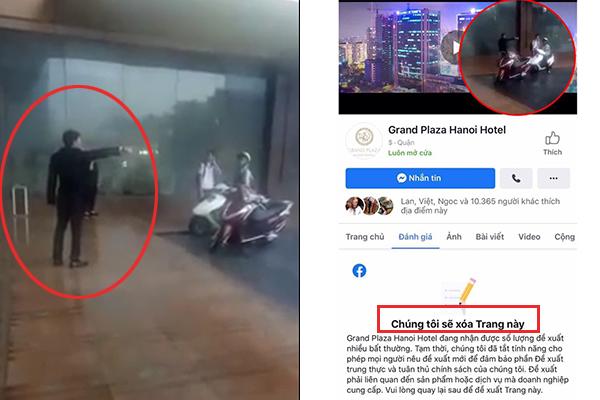 """""""Bão"""" 1 sao đổ ập """"Grand Plaza hotel"""" sau vụ nhân viên đuổi phụ nữ và trẻ em trú mưa vì """"đó là đường của khách VIP"""""""