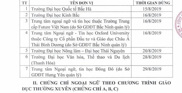 Bộ GD&ĐT công bố gần 50 đơn vị phải dừng tổ chức thi cấp chứng chỉ ngoại ngữ, tin học