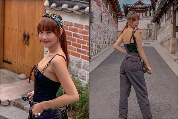 """Khoe ảnh """"căng tràn"""" trên đất Hàn, Minh Hằng bị anti """"soi mói"""" chê bai cách ăn mặc phản cảm"""