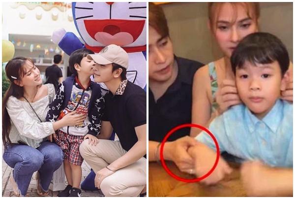 """Sau scandal, chồng trẻ Thu Thủy lại bị nói """"diễn kịch"""" khi tung ảnh hôn má thân thiết bé Henry?"""
