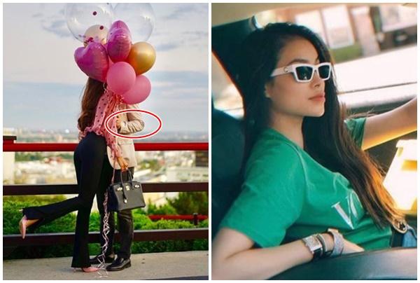 """Phạm Hương công khai ảnh hôn bạn trai, càng zoom kỹ mới thấy đúng là """"đại gia bên Tây"""""""