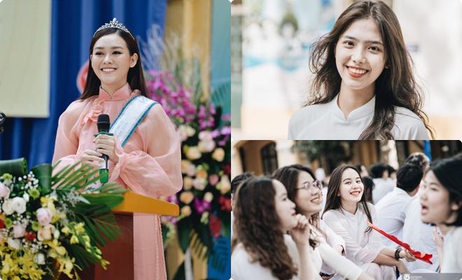 Lễ khai giảng toàn gái xinh của trường Phan Đình Phùng: Á hậu Tường San và dàn nữ sinh thế hệ mới đua nhau khoe sắc