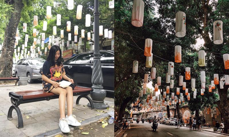 """Phố Phùng Hưng bỗng biến hóa thành """"Con đường đèn lồng"""" lung linh y chang Hội An huyên náo dân tình Hà Thành"""