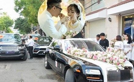 HOT: Toàn cảnh lễ đưa dâu toàn siêu xe hơn 100 tỷ của con gái đại gia Minh Nhựa, cả ngôi nhà tràn ngập hoa tươi