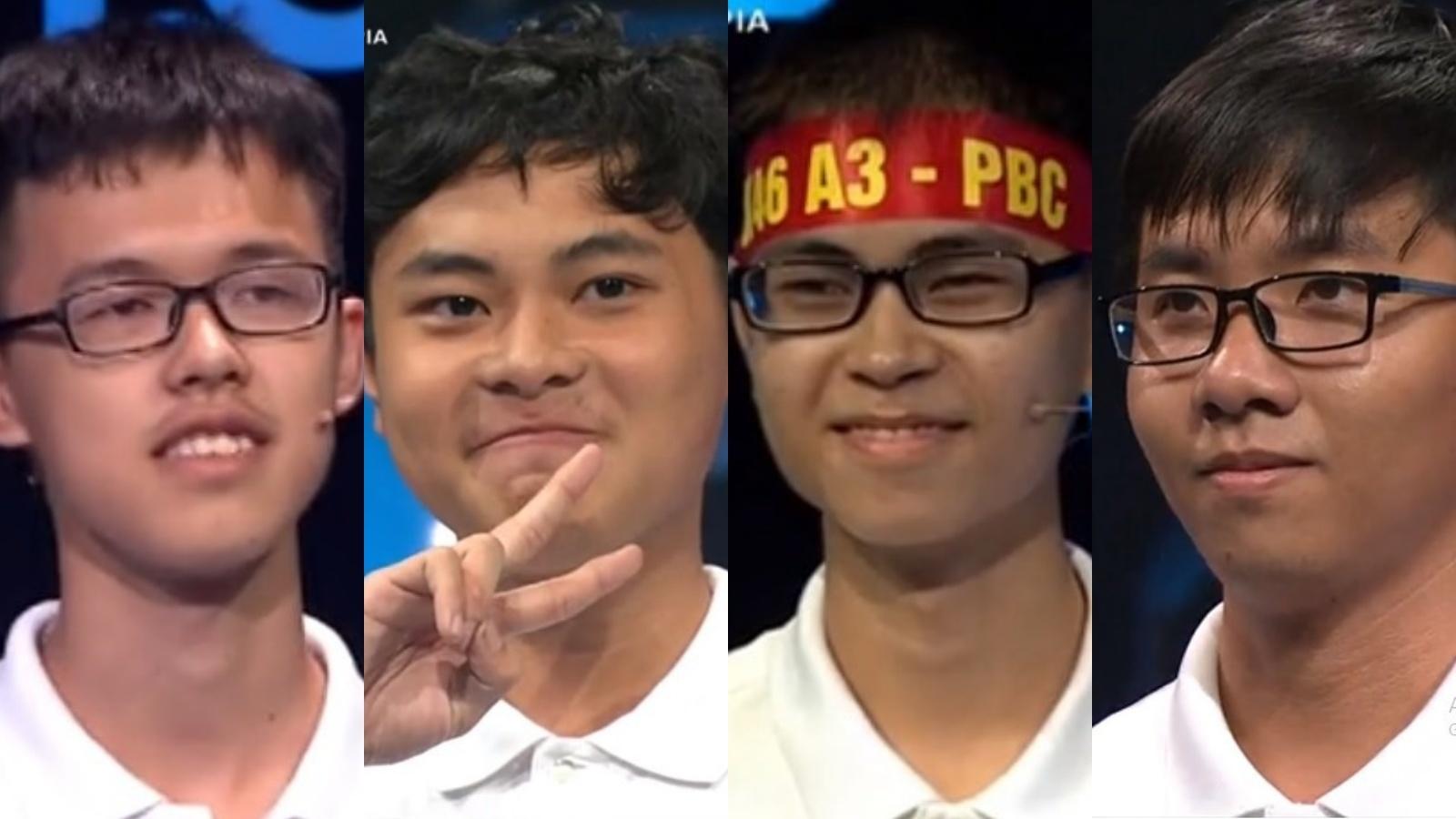 4 nam sinh dự thi chung kết Đường lên đỉnh Olympia năm 2019 là ai?