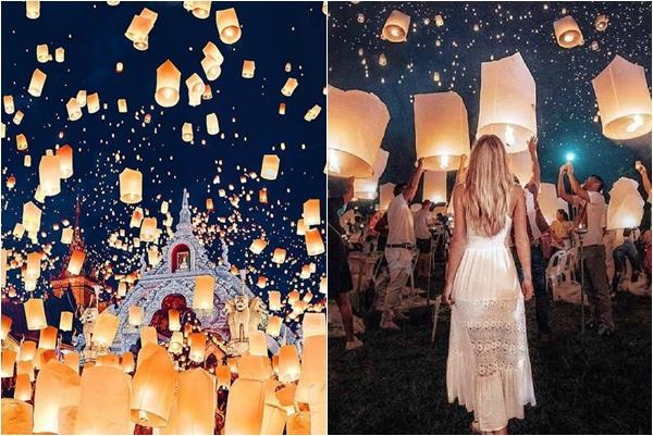 Mơ một lần đứng dưới bầu trời ánh sáng ở Lễ hội thả đèn trời Chiangmai đẹp như miền cổ tích