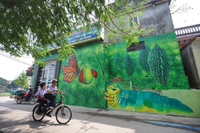 Nhanh chân check-in Làng Bích Họa đầu tiên xuất hiện ở Hà Nội