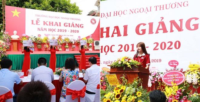 Đại học Ngoại Thương đón chào 7 thủ khoa và 1 á khoa toàn quốc trong lễ khai giảng đầy ý nghĩa