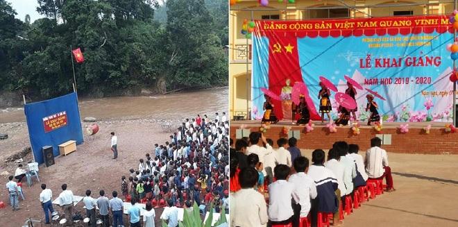 """Ngôi trường khai giảng bên bờ suối mùa lũ xưa nay đã khang trang, bề thế không kém trường học """"sang chảnh"""" nào"""
