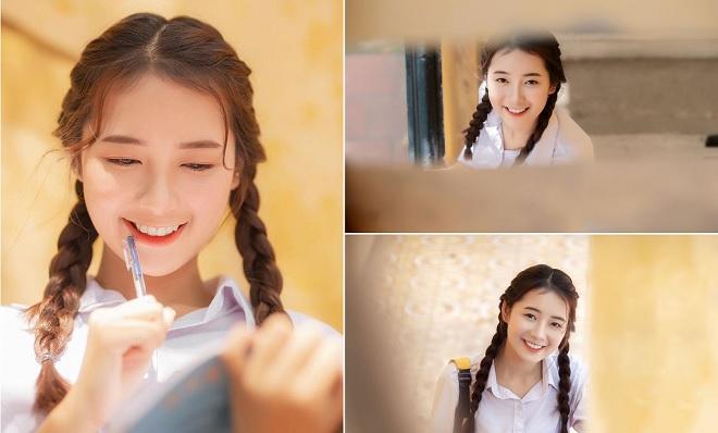 """Ngọt ngào loạt ảnh thanh xuân của nữ sinh Hưng Yên với nụ cười trong veo """"tỏa nắng"""" đến bao trái tim"""