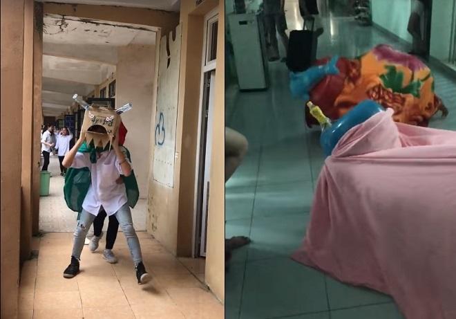 """Không khí Trung thu trường """"người ta"""": Mời Quang Hải, Bùi Tiến Dũng về trường, múa lân tự chế """"bá đạo"""""""