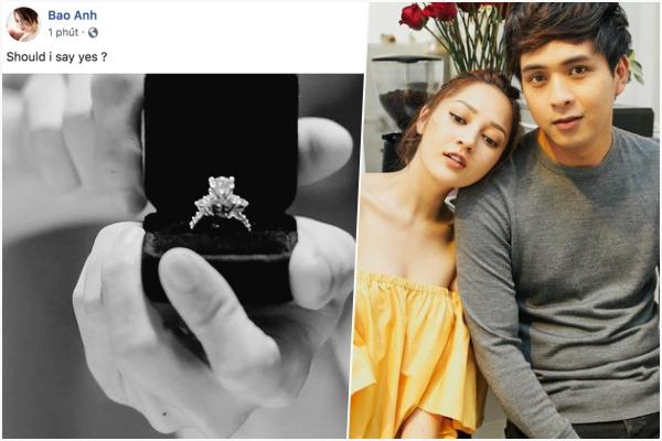 """Bảo Anh bất ngờ được cầu hôn bằng nhẫn kim cương khủng đúng Trung Thu, dân tình thi nhau """"đồng ý hộ"""""""