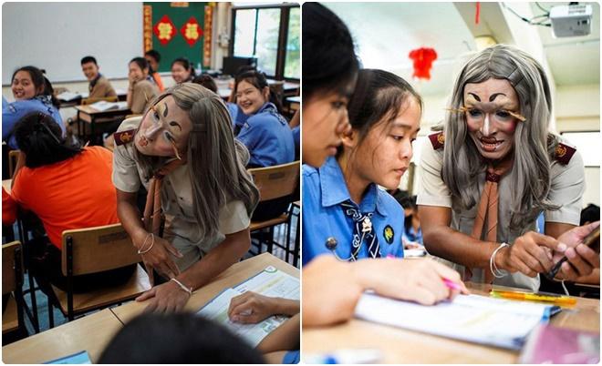"""Hóa trang """"bá đạo"""" với điệu bộ giống Lisa (Black Pink), thầy giáo khiến học sinh cười no nê mỗi khi đến lớp"""