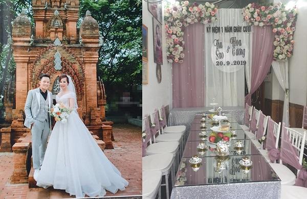 """Cô dâu 62 tuổi lại """"làm trò"""" khi chụp ảnh cưới, mở tiệc linh đình để kỉ niệm 1 năm cưới được chồng trẻ 26 tuổi"""
