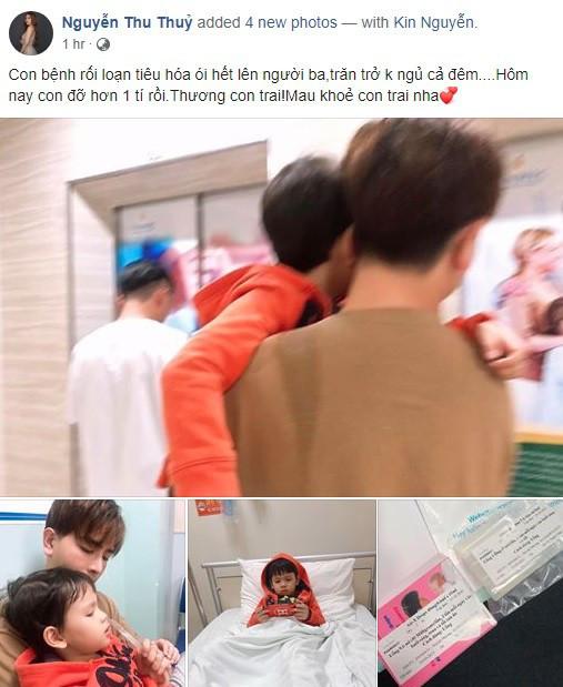 Thu Thủy đăng ảnh con trai nhập viện giữa đêm, nhưng thái độ của chồng trẻ mới đáng chú ý