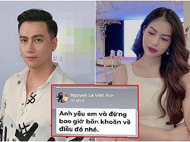Mới ly hôn vợ cũ, Việt Anh đã úp mở có tình mới, còn nói lời ngôn tình sến súa