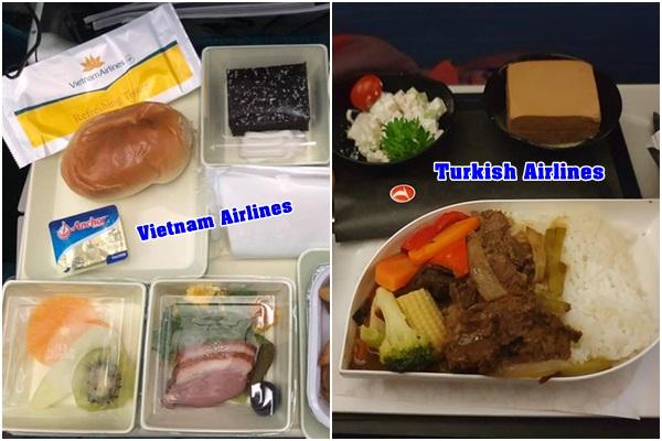 """So sánh bữa ăn """"trên trời"""" của các hãng hàng không, xem ra mỳ gói Việt Nam vẫn được yêu thích nhất"""