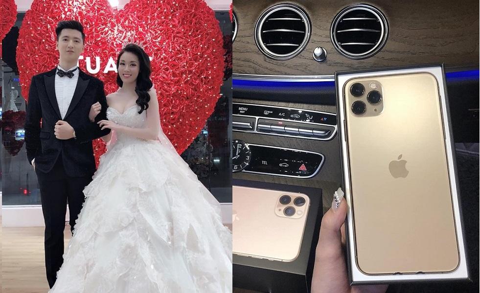 Lấy được đại gia sau khi chia tay Hà Duy, nữ giảng viên xinh đẹp khoe chồng tặng iPhone 11 Pro Max