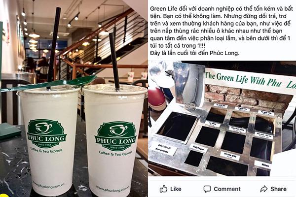 """Phúc Long bị tẩy chay vì """"lừa dối và xem thường"""" khách hàng: Kêu gọi sống xanh bằng thùng rác phân loại """"giả tạo"""""""
