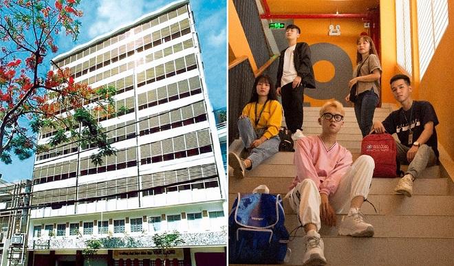 """Sinh viên ĐH Văn Lang lại được dịp check-in """"cháy máy"""" với """"bầu trời sống ảo"""" tại cơ sở 1 của trường"""
