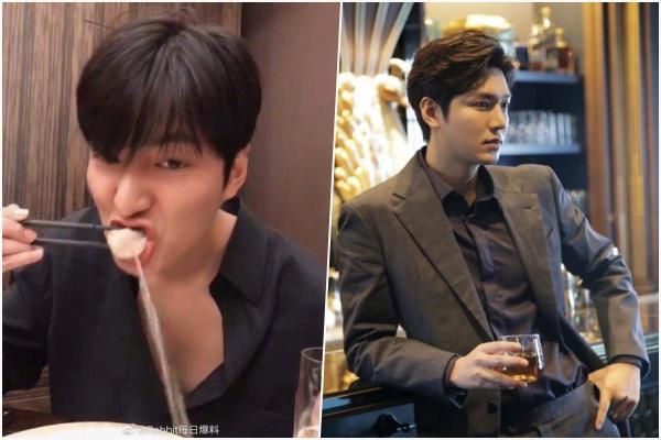 Hình tượng trai đẹp thanh lịch của Lee Min Ho sụp đổ chỉ trong 1 phút sau khi ăn bánh hấp Trung Quốc