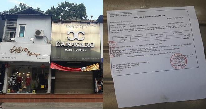 Shop giày của bà chủ quỵt tiền nữ sinh vẫn đóng cửa, bị dán thông báo ngừng cấp điện