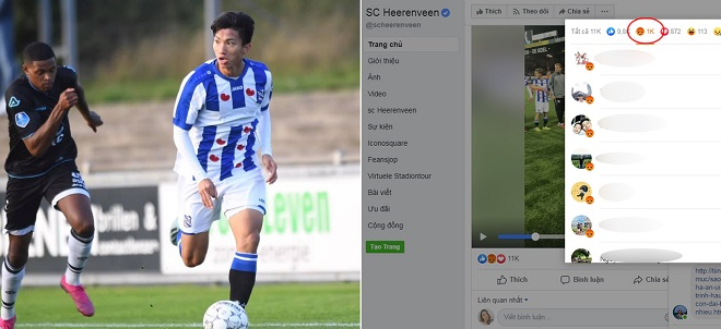Fan cuồng tấn công fanpage CLB Heerenveen sau khi Văn Hậu dự bị liền 2 trận ở Hà Lan