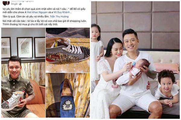 """Sướng như Tuấn Hưng, được vợ tặng """"giày khủng"""" đi sinh nhật soi giá tiền cũng là cả một """"gia tài"""""""