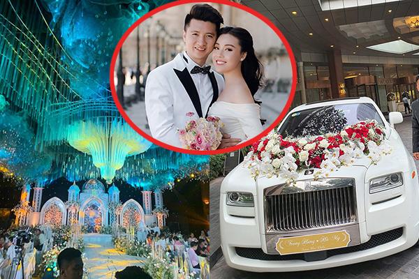 """Ngây ngất với hôn trường """"lâu đài"""" xa hoa cùng màn rước dâu là """"bạch mã"""" 20 tỷ của Âu Hà My và chồng doanh nhân"""