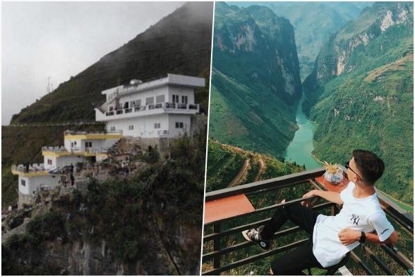 Quán cafe, khách sạn 7 tầng trên đèo Mã Pí Lèng gây tranh cãi vì phá vỡ cảnh quan thiên nhiên